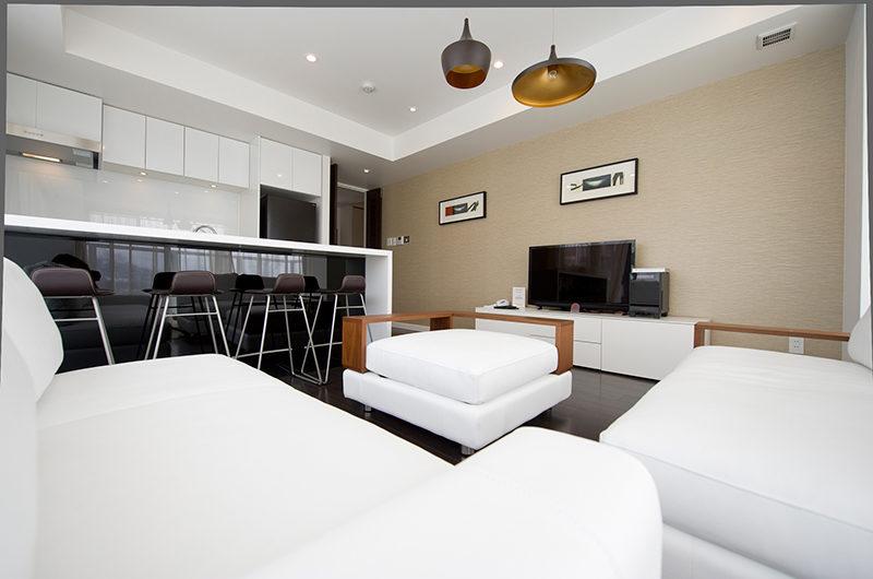 Kizuna One Bedroom Living with TV | Upper Hirafu