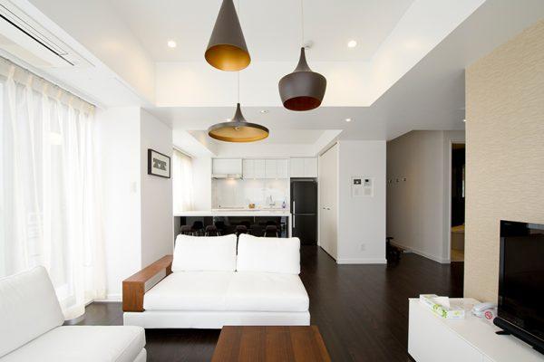 Kizuna Two Bedroom Deluxe Living Area | Upper Hirafu