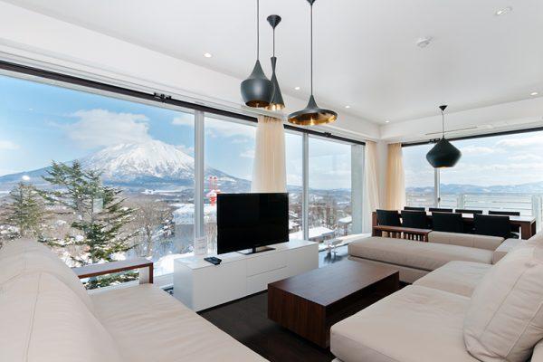 Kizuna Three Bedroom Penthouse Living Mt Yotei View | Upper Hirafu