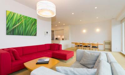 Niseko Landmark View Indoor Living Area | Upper Hirafu
