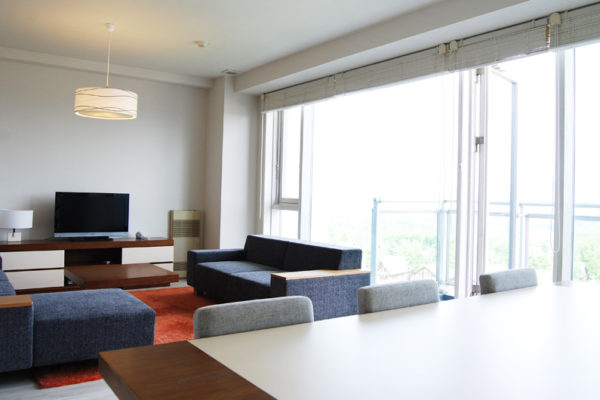 Niseko Landmark View Living Area with Carpet | Upper Hirafu