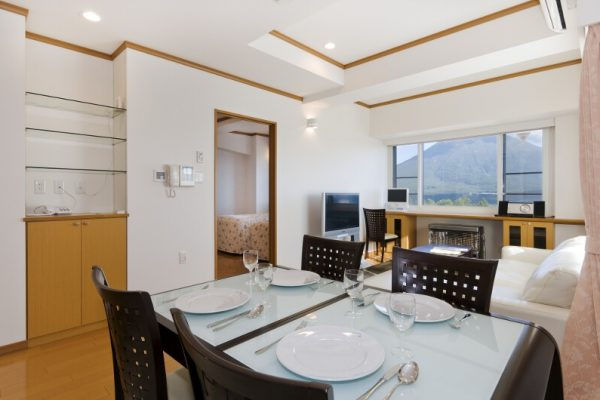Mountainside Palace Dining with Crockery near Kitchen | Upper Hirafu