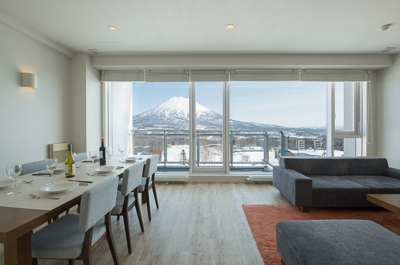 Niseko Landmark View Two Bedroom Premium Living and Dining Area | Upper Hirafu