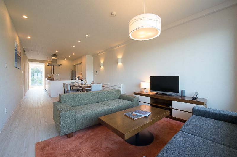 Niseko Landmark View Three Bedroom Premium Living Area with TV | Upper Hirafu