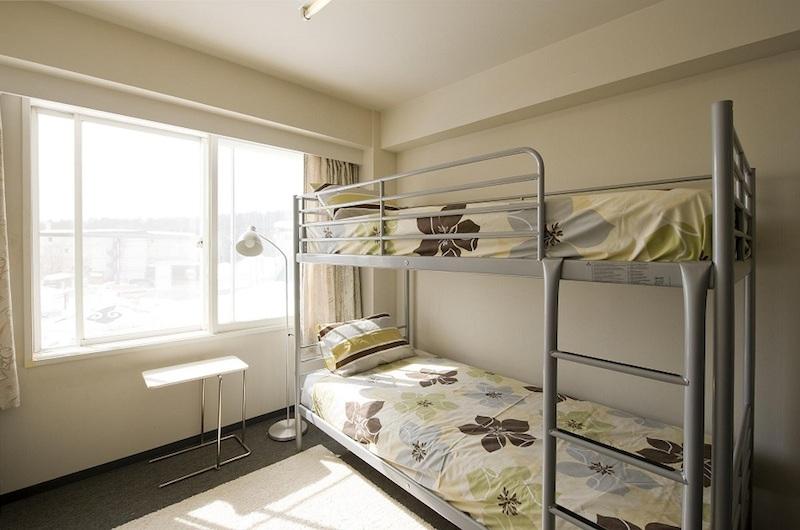 Owashi Lodge Bunk Beds with Lamp | Upper Hirafu
