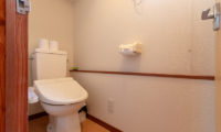 Powder Cottage Bathroom with Wooden Floor | Middle Hirafu Village