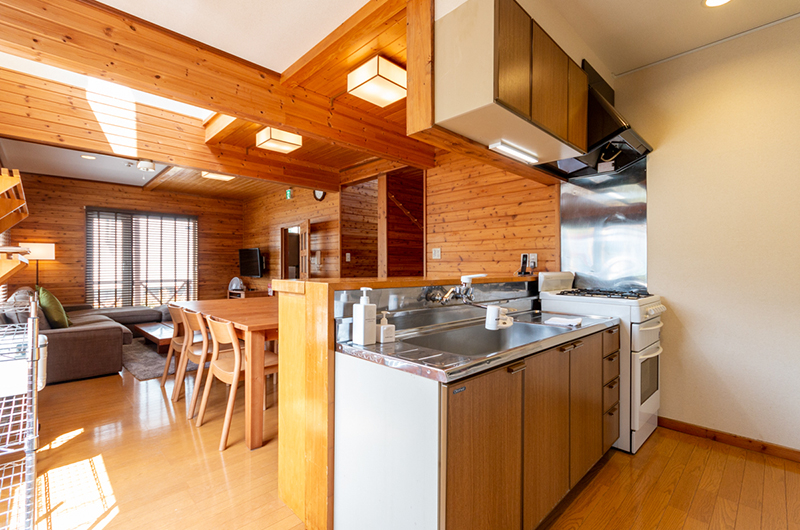 Powder Cottage Kitchen Area | Middle Hirafu Village