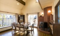 Powderhound Lodge Dining Area with Wooden Floor | Upper Hirafu