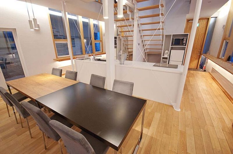 Sekka House Dining Area with Wooden Floor | Middle Hirafu