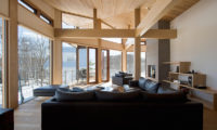 Seshu Living Area with Outdoor View | Lower Hirafu