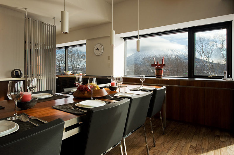 Shikaku Apartments Dining with Mountain View | Middle Hirafu