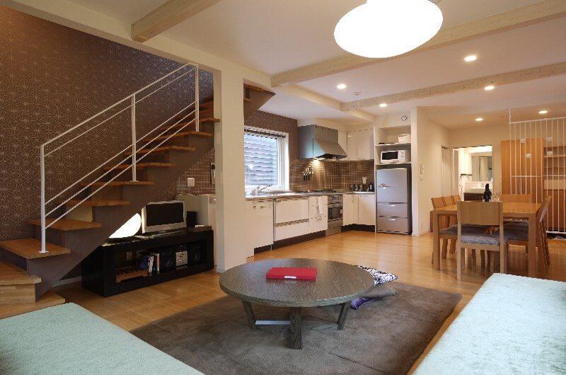 Shirakaba Living Kitchen and Dining Area | Lower Hirafu