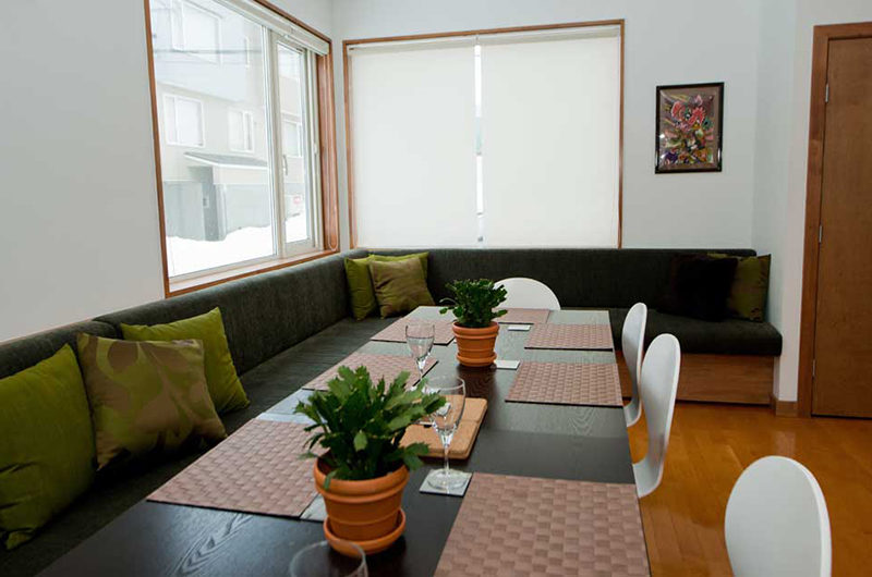 Shirokuma Chalets Dining Area with Wooden Floor | Middle Hirafu