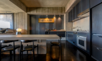 Suiboku Kitchen and Dining Area with Wooden Floor | Upper Hirafu Village