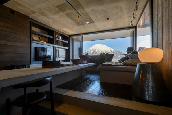 Suiboku Living and Dining Area with Mountain View | Upper Hirafu Village