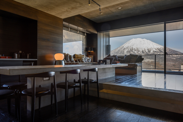 Suiboku Dining Table with Mountain View | Upper Hirafu Village
