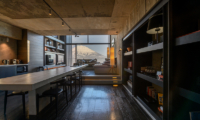 Suiboku Indoor Dining Area with Wooden Floor | Upper Hirafu Village