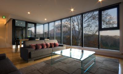 Tokubetsu Living Area with Mountain View | Lower Hirafu