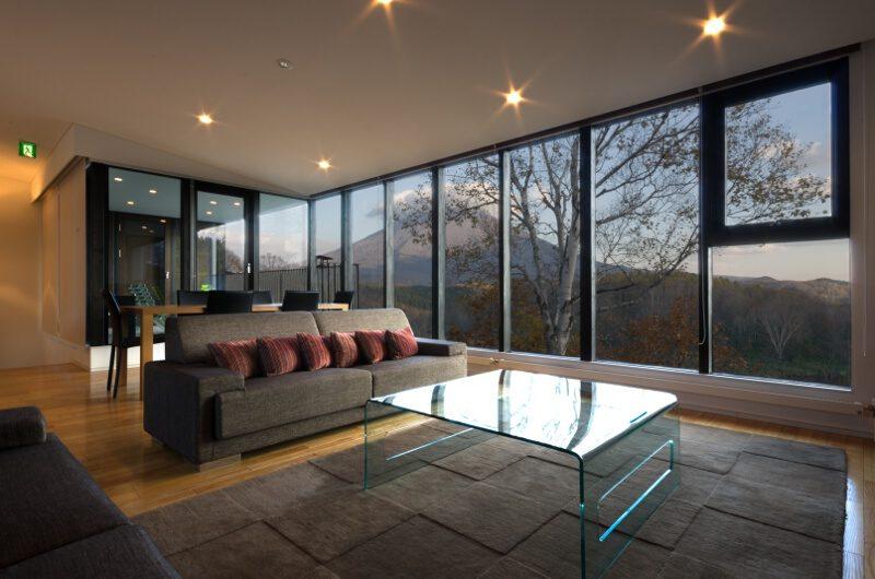 Tokubetsu Living Area with Mountain View | Lower Hirafu