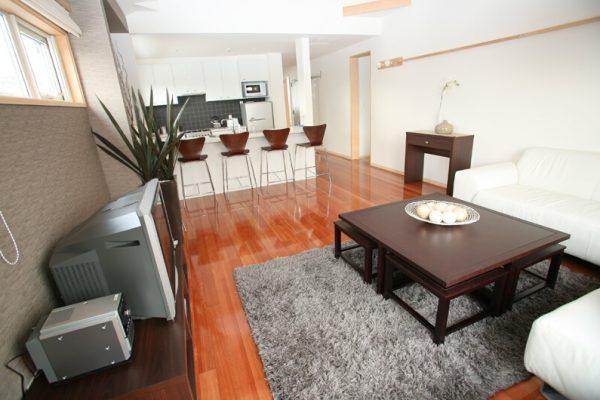 Yuki Yama Apartments Lounge Area with TV | Middle Hirafu