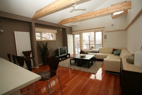 Yuki Yama Apartments Living and Dining Area with Wooden Floor | Middle Hirafu