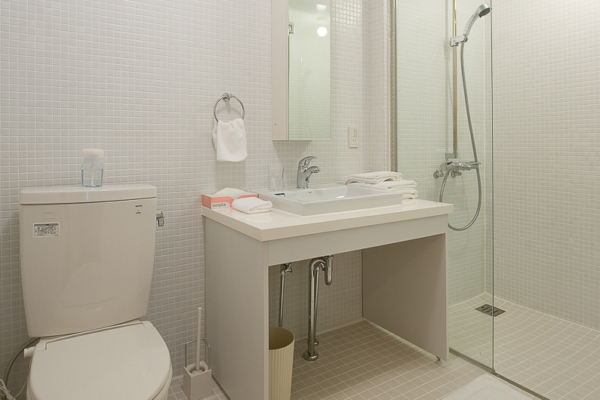 Birch Grove Bathroom with Mirror | Lower Hirafu