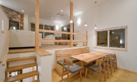 Birch Grove Indoor Living and Dining Area with Wooden Floor | Lower Hirafu