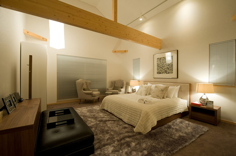 The Chalets at Country Resort Kinokawa Spacious Bedroom with Seating Area | West Hirafu