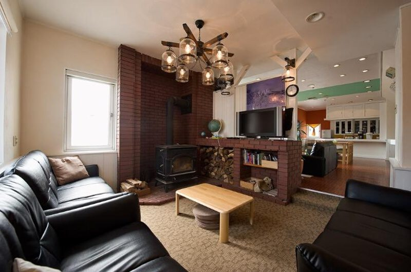 Downtown Lodge Living Area with TV | Middle Hirafu