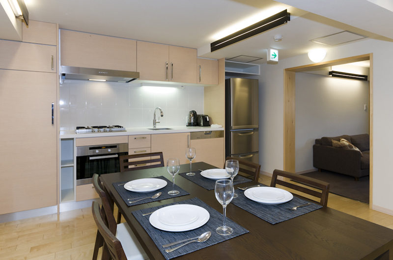 Futagoyama Two Bedroom Apartment Dining Area | Middle Hirafu Villag