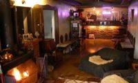 Pension Grand Papa Living Area near Fireplace | Lower Hirafu