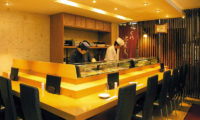 Hotel Niseko Alpen In-House Sushi Restaurant Shokusai Hirafu with Seating Area | Upper Hirafu