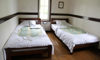 Moorea Lodge Twin Bedroom with Wooden Floor | Middle Hirafu