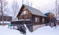 Nupuri Cottage Exterior with Snow | Lower Hirafu