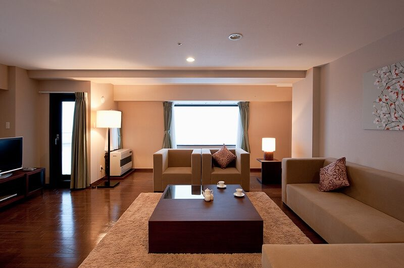 One Niseko Resort Towers Lounge Area with TV | Moiwa