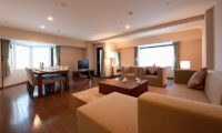 One Niseko Resort Towers Living and Dining Area with Wooden Floor | Moiwa