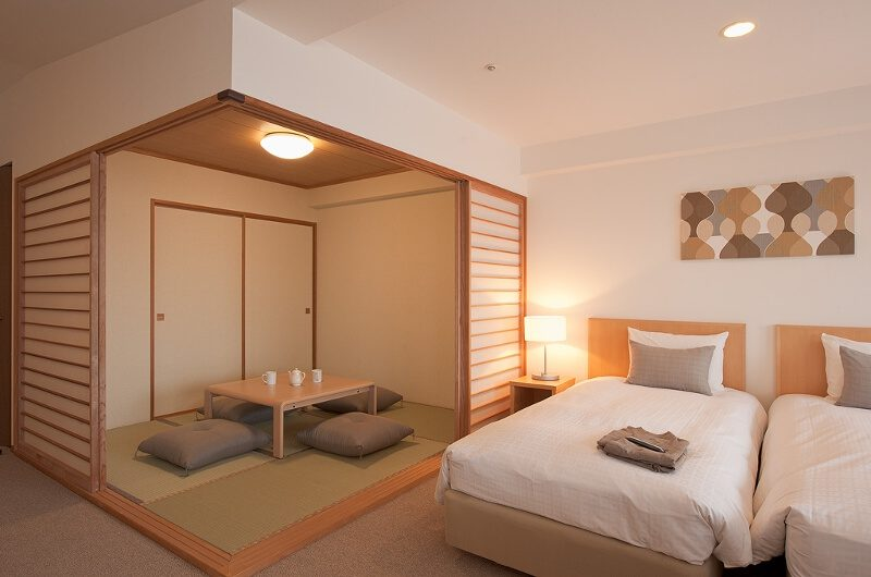 One Niseko Resort Towers Bedroom with Tea Area | Moiwa
