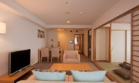 One Niseko Resort Towers Living and Dining Area with Carpet | Moiwa