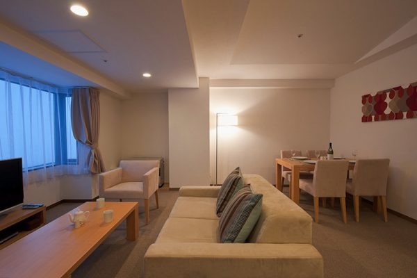 One Niseko Resort Towers Living Area with TV | Moiwa
