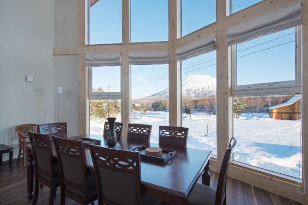 The Orchards Niseko Akagashi Dining Area with Mountain View | West Hirafu