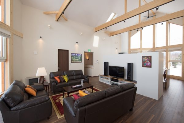 The Orchards Niseko Akagashi Living Area with TV | West Hirafu