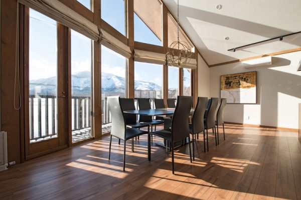 The Orchards Niseko Goyomatsu Dining Area with Mountain View | West Hirafu