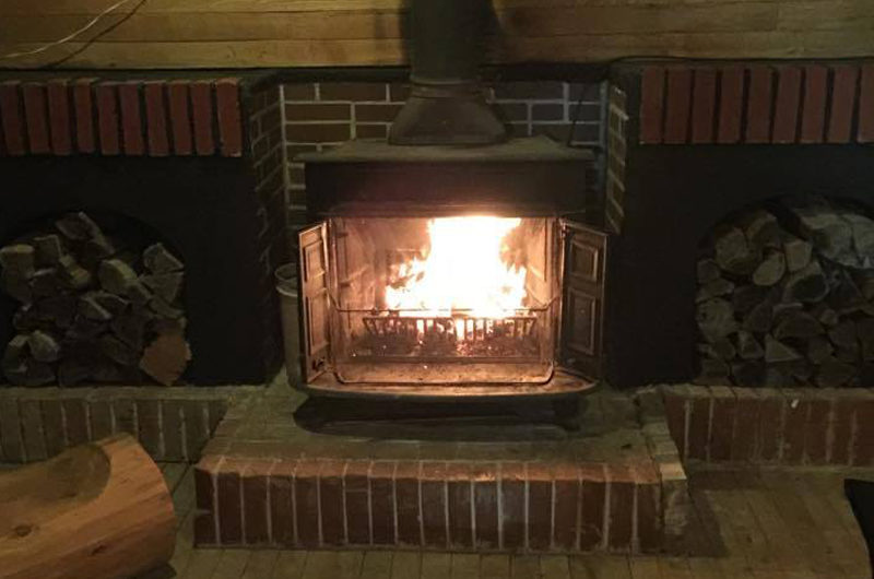 Pension Full Note Fireplace | Middle Hirafu