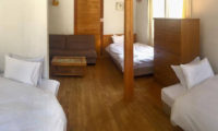 Pension Full Note Bedroom with Triple Beds and Sofa | Middle Hirafu