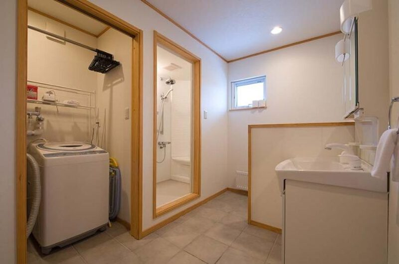 Ruby Chalet Bathroom with Laundry Area | East Hirafu