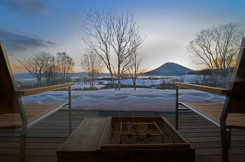 Sekka Hanazono House Outdoor Seating Area with Mountain View | Hanazono