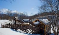 Shin Shin Outdoor Area with Bridge | Lower Hirafu