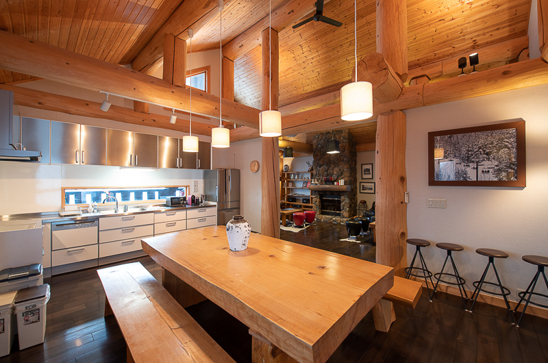 Shin Shin Kitchen and Dining Area with Wooden Floor | Lower Hirafu