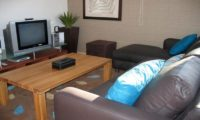 Shinsetsu Apartments Living Area with TV | Middle Hirafu