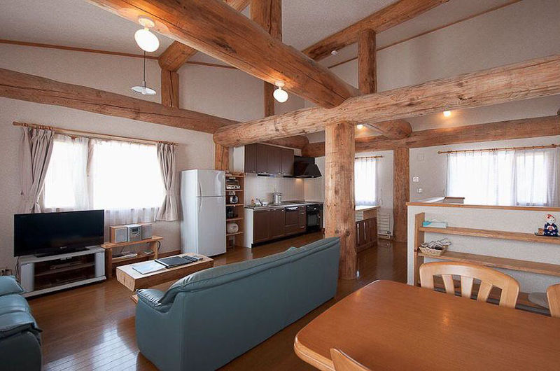 Silver Birch Living, Kitchen and Dining Area | Upper Hirafu